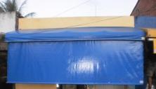 Toldo modelo cortina com lona